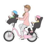 自転車の子供乗せは何歳からいつまで?前後2人は法律違反になるのか