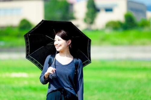 日傘でブロック