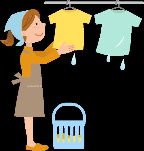 洗濯物への影響