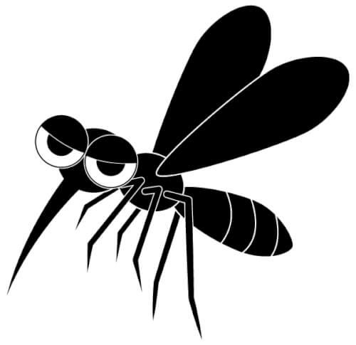 止まる蚊を狙う