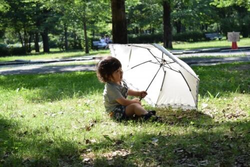 日傘と赤ちゃん